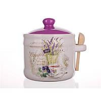 Емкость для сыпучих 400 мл с ложкой, Lavender