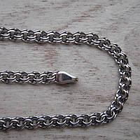 Серебряная цепочка, 600мм, плетение Бисмарк, 15,7 грамма, черненое серебро