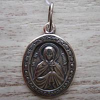 Серебряная подвеска-ладанка Святая Юлия