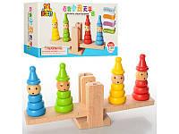 """Деревянная игрушка """"Пирамидки на качелях"""" M00728"""