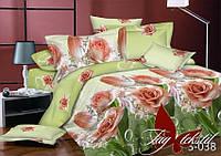 Комплект постельного белья евро размер сатин люкс с компаньоном  S038