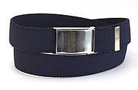 Синий ремень мужской тканевый резинка