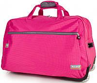 Розовая сумка для путешествий на 2-х колесах WUCAIMAO DS0658-13, 60 л.