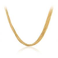 Золотое колье из желтого золота