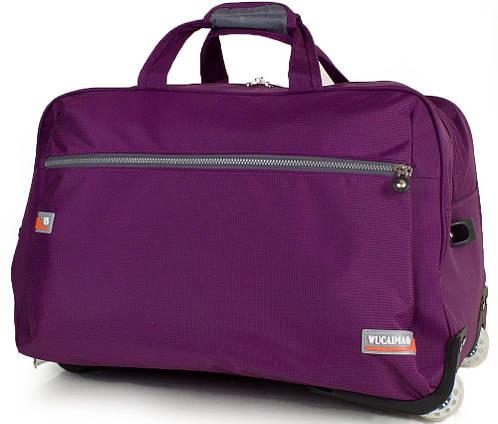 Фиолетовая сумка для путешествий на 2-х колесах WUCAIMAO DS0658-7, 60 л.