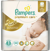 Подгузники Pampers Premium care 1 (2-5 кг), 88 шт