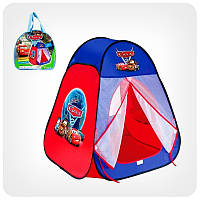 Игровая палатка Тачки 811: самораскладывающаяся, 80х80х90 см, в сумке 34х34х4 см