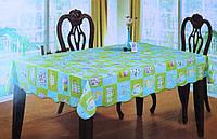 Скатерть кухонная голубая с кружками