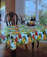 Скатерть кухонная с фруктами на белом фоне
