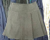 Серая юбка для девочки в школу