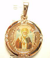 Кулон круглая Икона Николай Чудотворец, фото 1