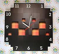 Часы настенные Майнкрафт Паук