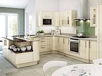 Кухня на заказ BLUM-006 c крашеными фасадами
