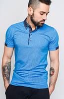 Классическая футболка-поло   в стиле джинс