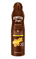 Водостойкое масло для загара Hawaiian Tropic Protection Dry Oil Spray, SPF 30