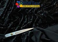 Велюр мрамор черный