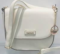 Брендовая женская сумка  DKNY Донна Каран молочная
