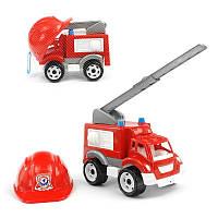 Набор Малыш-пожарник (пожарная машина с каской) 3978 ТехноК