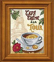 """Рисунок - схема для вышивания бисером """"Кофе со сливками у Эйфелевой башни"""""""