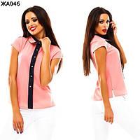 Женская блуза с короткими рукавами  42-48