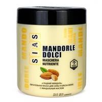 SIAS Питательная маска для силы и блеска волос с миндальным маслом «Сладкий миндаль» 1000 ml