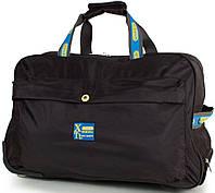 Большая черная дорожная сумка для на 2-х колесах XINGRUIDA DS0988-2, 60 л.