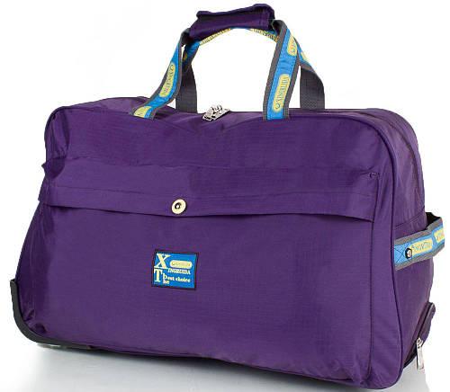 Большая фиолетовая дорожная сумка для на 2-х колесах XINGRUIDA DS0988-7, 60 л.