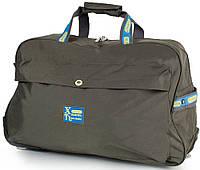 Большая серая дорожная сумка для на 2-х колесах Xingruida DS0988-16, 60 л.