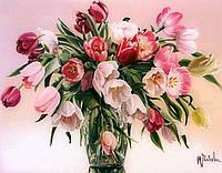 """Картина по номерам «Идейка» (КН1072) художественный творческий набор """"Тюльпаны в вазе"""" (Татьяна Чачева), 50x40 см"""