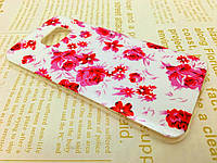 TPU чехол для Samsung Galaxy S7 Edge розовые цветы