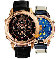 Мужские механические часы Patek Philippe Sky Moon Gold Black