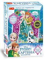 """Набор для творчества 4748-14 Картинка из пайеток Frozen """"Анна и Эльза Лето"""" 15162059Р Ranok Creative"""