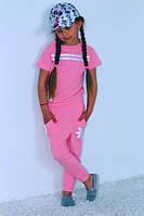 Детский спортивный костюм Адидас футболка и штаны для девочки