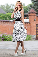 Летнее платье из штапеля с вырезом на спине 42-48 размеры