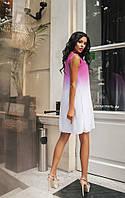 """Летнее короткое женское платье в стиле амбре """"Элис"""""""