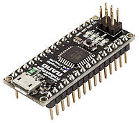 Arduino Nano V3.0 (ATmega168/ch340g - MicroUsb - UART) 5 В. 16 мГц. RobotDyn. Ножки (контакты) припаяны.