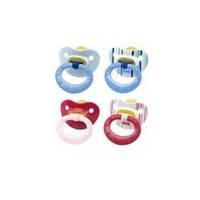 Пустышка-cоска латексная ортодонтическая 6-18 месяцев с колечком Nuk Classic Soft р.2 НУК