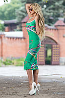 Летнее прилегающее платье длинны миди 40-46 размеры