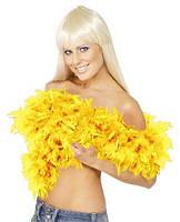 Боа перьевое желтое 270216-146