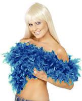 Боа перьевое синее 270216-143