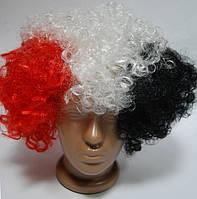 Парик клоуна (красно-бело-черный) 220216-093