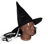 Шляпа Баба Яга (черно-белые волосы) 170216-375