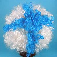 Парик клоуна (бело-голубой) 220216-114