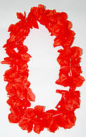 Леи гавайские Алоха (красные) 010316-039
