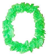Леи гавайские Алоха (зеленые) 010316-003