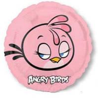 """Шар фольгированый 18"""" Angry Birds Стелла круг 1202-1646"""