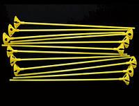 Палочка с держателем для шарика желтая 1302-3026