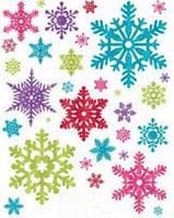 Наклейки снежинки 1507-0952