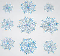 Набор Новогодних снежинок 9 шт 1505-0605