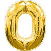"""Шар фольга 14"""" цифра 0(Золото) 1206-0629"""